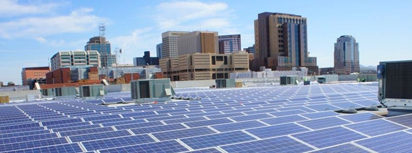 Solar Panels on Maricopa County Building