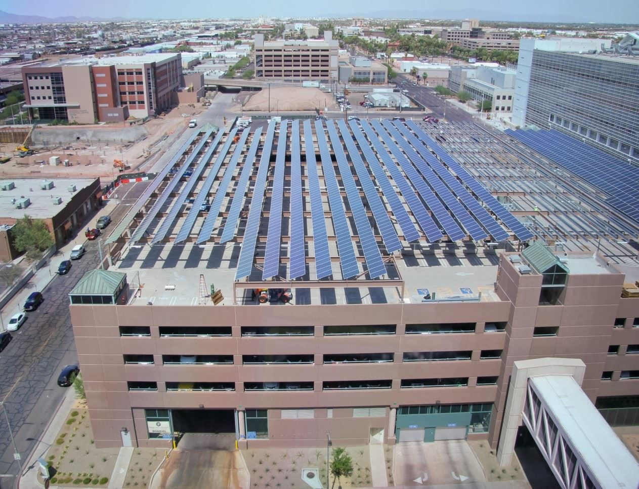 jefferson parking garage solar